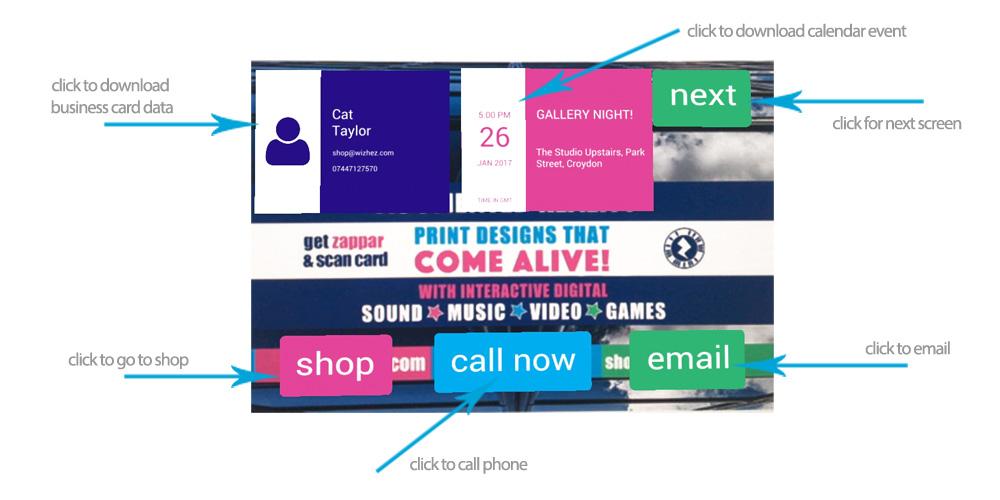 Augmented Reality Business Cards - Zero Degreez Design